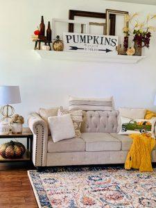 Fall home interior setting